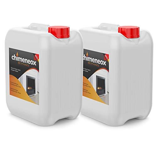2 x 5L Bioetanol 96% origen Vegetal chimeneas