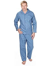 Hommes brossé Pure 100% Pyjama Coton Hiver Chaud Flanelle Thermique M/L/XL/XXL