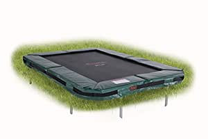 Avyna Pro-Line In-Ground Rectangular Trampoline Green (215cm x 155cm)