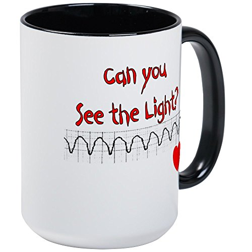 (CafePress–Cardiac/ICU Krankenschwester Großer Becher–Kaffee Tasse, groß 15Oz Weiß Kaffee Tasse Large White/Black Inside)