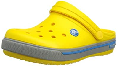 Crocs Cband2.5ClogK Yel/Lgr C10/11, Unisex-Kinder Clogs, Gelb (Yellow/Light Grey 74Y), 27/29 EU