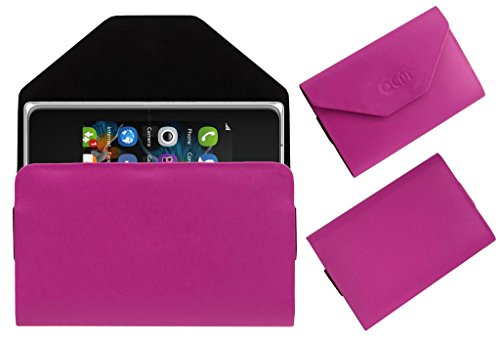 Acm Premium Pouch Case For Nokia Asha 500 Flip Flap Cover Holder Pink  available at amazon for Rs.359