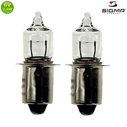 2 x Sigma/Philips Fahrrad Halogen Glühbirnen 6V/2,4W/0,4A (Fahrrad-licht 2er-pack)