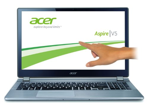 Acer Aspire V5-573PG-54204G1Taii 39,6 cm (15,6 Zoll) Laptop (Intel Core i5-4200U, 1,6GHz, 4GB RAM, 1000GB HDD, NVIDIA GT 750M, Touchscreen, Win 8.1) silber