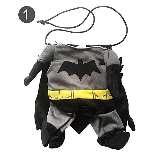 Biback Haustiere Cosplay Kleidung Hund Batman Cosplay Halloween Teddy Dog Lustiges Kostüm Baumwolle Polyester Atmungsaktiv Komfortable Hundemantel Pet Supplies für Party Canival