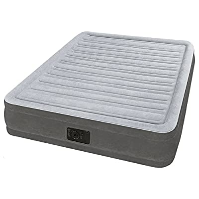 Intex Dura-Beam Comfort Plush Mid Rise Air Bed Double (Full) Size with built-in electric pump #67768