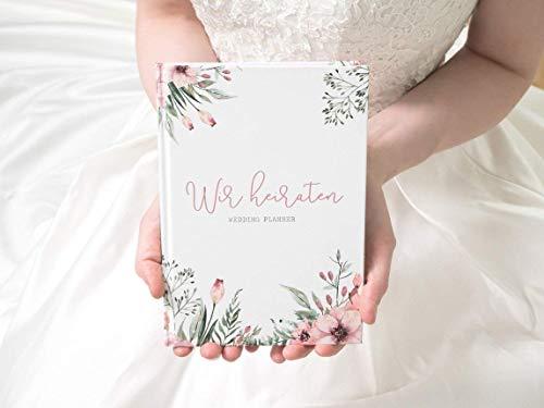 ""\""""Wir heiraten"""" - Hochzeitsplaner mit 168 Seiten  WILD FLOWERS""