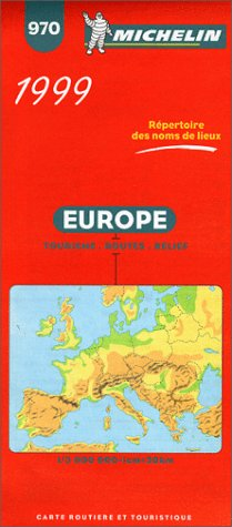 Price comparison product image Michelin 99 Europe: Tourism,  Roads,  Relief (Michelin Map,  970)