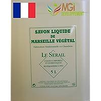 MGI DEVELOPPEMENT Garrafa de 5 litros de jabón de Marsella líquido, de fabricación artesanal -