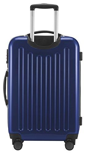 HAUPTSTADTKOFFER - Alex - NEU 4 Doppel-Rollen Hartschalen-Koffer Koffer Trolley Rollkoffer Reisekoffer, TSA, 65 cm, 74 Liter, Dunkelblau - 4