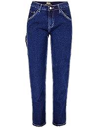 4c5bb402bb Sijux Moda Mujer de Cosecha de Cintura Alta Vintage Jeans Overol Suelta  Pierna Recta Nueve Pantalones
