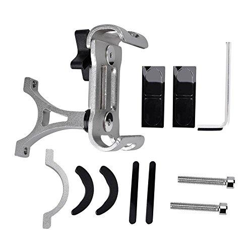 Dilwe Phone Holder per Bici, 3Colori in Lega di Alluminio Universale Telefono Cellulare Supporto da Manubrio della Bicicletta e...