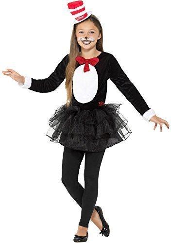 r Seuss Katze im Hut Tutu Rock Kleid Welttag des buches-tage-woche TV Buch Film Karneval Tier Kostüm Kleid Outfit 4-12 Jahre - 4-6 years (Katze Im Hut-tutu Kostüm)