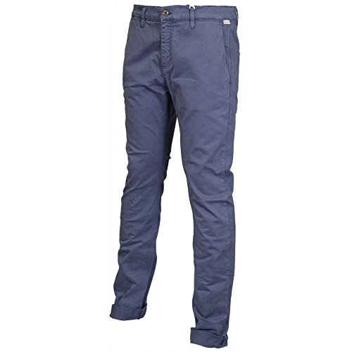 Franklin & Marshall -  Pantaloni  - Uomo Uniform Blue 32W/Regular