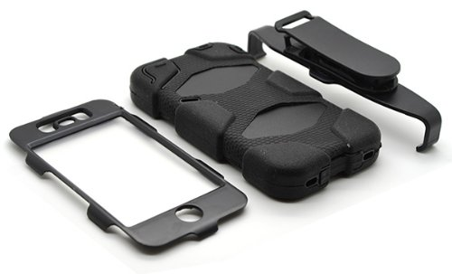 DN-Technology Handy-Schutzhülle, Rückseite transparent, Gelschutzhülle, Fallschutz/Stoßdämpfung, für Apple iPhone 5C Black Builder Case