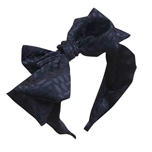 and Haarspange,Schöne Damen Mädchen Stoff süße große Schleife rutschfeste breite Haarband Stirnband speciales neues Design für Damen ()