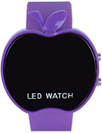 VITREND™ Purple Apple Style Led Watches For Boys And Girls (Colour May Vary Sent As Per Availability)