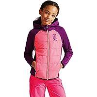 Dare 2b de los niños con Flexible de chaqueta híbrida, Infantil, color Blkcur/NePnk, tamaño Size 3 - 4