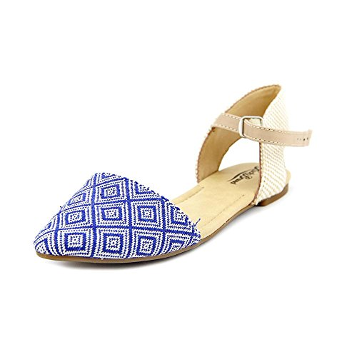 Lucky Brand Abbee Toile Chaussure Plate Blue Combo