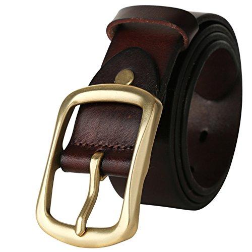 Jiejing uomo pin fibbie cintura,tempo libero business cintura gioventù studente selvaggio cintura-a 105cm(41inch)
