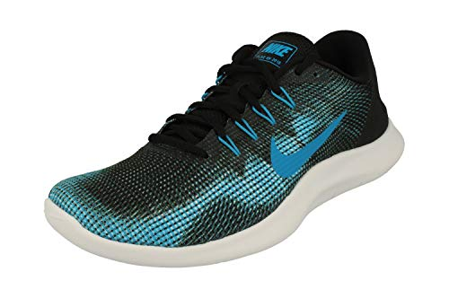 9,5 M Schuhe (NIKE Men's Flex RN 2018 Running Shoe Black/Equator Blue/White Size 9.5 M US)