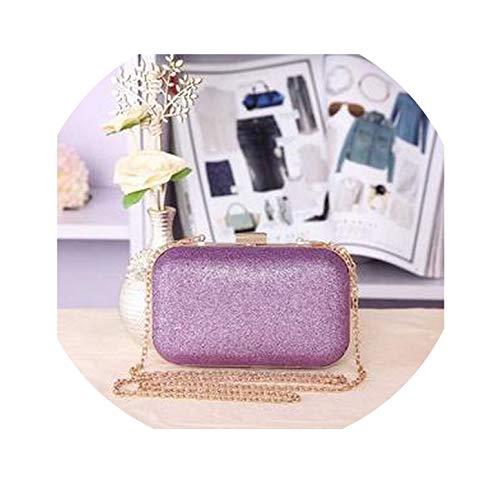 FLDONG Damen Clutch, Damen, Schultertasche, Umhängetasche, für Partys, Clutch, Geldbörsen und Handtasche, Violett - lavendel - Größe: Einheitsgröße -