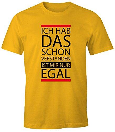 lustiges Herren T-Shirt - Ich hab das schon verstanden, ist mir nur egal - Fun-Shirt MoonWorks® Gelb