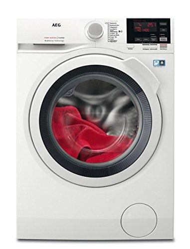 AEG L7WB64474 Waschtrockner Frontlader / Waschmaschine (7 kg) mit Trockner (4 kg) /  Mengenautomatik / Nachlegefunktion / ProSteam-Dampffunktion / weiß