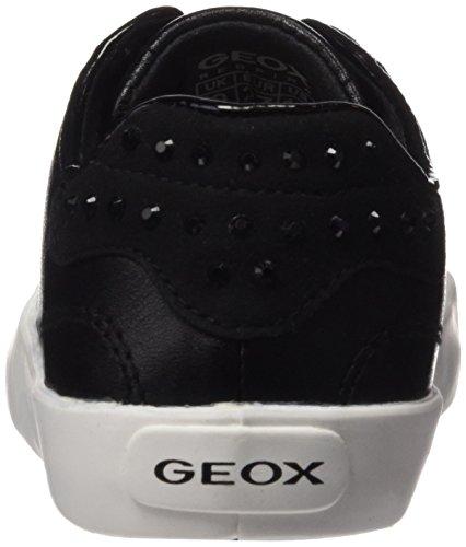 Geox Kiwi B, Baskets Basses Fille Schwarz (BLACKC9999)