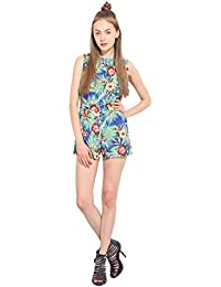 Lucero Multi floral crepe casual jumpsuit / playsuit for women and girls