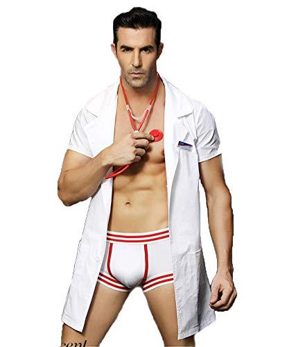 Sous-Vêtements Érotiques Pour Hommes Lingerie Sexy, Sexy Médecin Infirmière Uniforme Tentation Masculine, Jeux De Rôle Nightclub