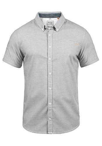 Blend Fillus Herren Kurzarmhemd Herrenhemd Hemd mit Button-Down-Kragen aus 100% Baumwolle, Größe:XXL, Farbe:Black (70155)