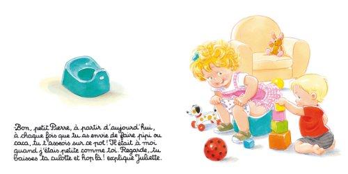 Juliette apprend le pot à son petit frère - Dès 3 ans