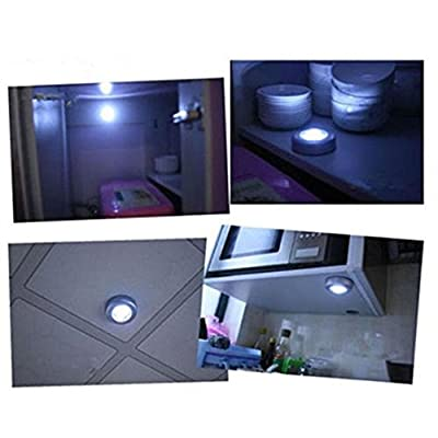 HARRYSTORE 4 LED Touch Night Light Home Kitchen Under Cabinet Closet Push Stick On Lamp