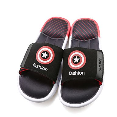 Sandales hommes d'été occasionnels pantoufles/Beach/Home Fashion-héros Marvel Chaussons Multicolor Red