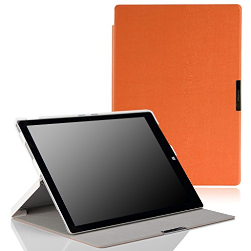 MoKo Microsoft Surface Pro 3 Hülle - Ultra Slim Lightweight Schutzhülle Smart Cover mit Standfunktion für Surface Pro LTE? Microsoft Surface Pro 3 12 Zoll Tablet,Orange