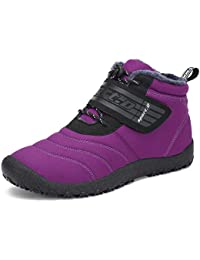 7ef5e9526029a SAGUARO Homme Femme Chaussures De Neige Bottes Hiver Bottines Fourrées  Chaudes Boots Lacets Plates