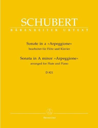 SONATE A-MOLL D 821 (ARPEGGIONE) - arrangiert für Querflöte - Klavier [Noten / Sheetmusic] Komponist: SCHUBERT FRANZ