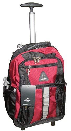 Schultrolley Rucksack Trolley Schulrucksack Ranzen verschiedene Farben (schwarz-rot) - Unten Rot Outlet