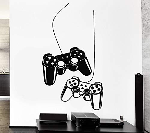 nkfrjz Jungen Wandaufkleber Dekoration Spiel Gaming Controller Decals Vinyl Wandtattoos für Kinder spielzimmer Schlafzimmer 42X77 cm (Kinder-spielzimmer Decals)