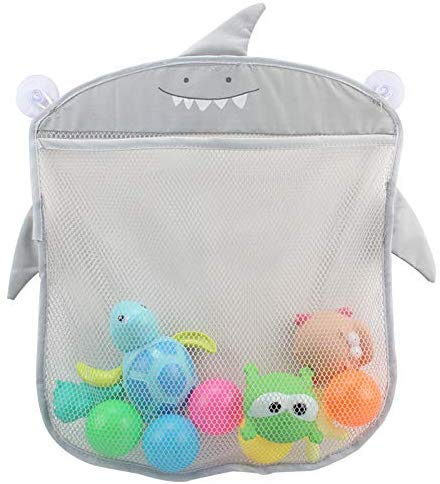 Bolsa de almacenamiento del organizador de juguetes para el baño del bebé - Red de malla colgante...