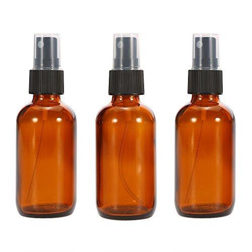 Anself 3 Pezzi Bottiglia Spray per Acqua Profumo Olio Essenziale Vetro 50 ml Amber