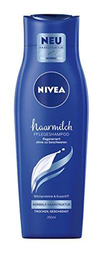 NIVEA Haarmilch Pflegeshampoo Normale Haarstruktur, 6er Pack (6 x 250 ml)