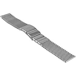 Vollmer, 0502SH7, 18mm Watch band Milanese Mesh, with fold over clasp