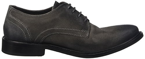 Base London Benno, Chaussures Lacées Homme Gris (Greasy Grey)