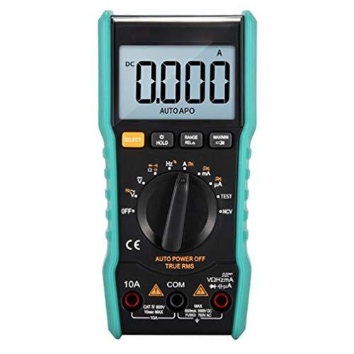 Multimeter, True Rms Average Zero Fire Line Auto Range, kleines Voltmeter-Amperemeter-Ohmmeter, tragbares Digitalmessgerät, blau