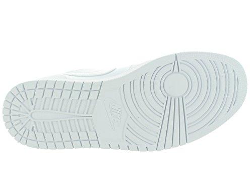 Nike - Air Jordan 1 Low, Scarpe sportive Uomo Bianco / Argento (White / Metallic Silver)
