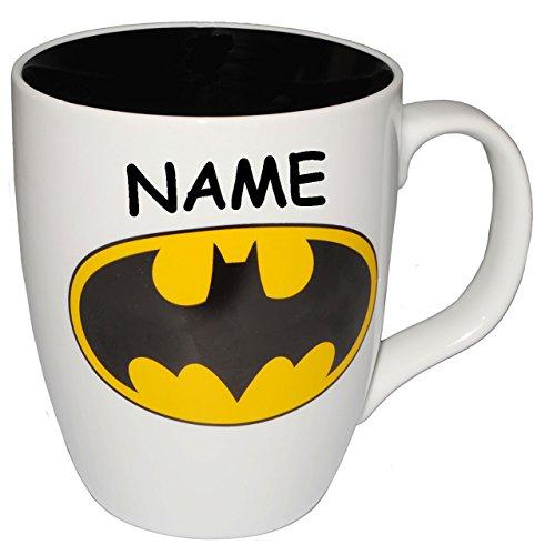 alles-meine.de GmbH XL Henkeltasse -  Batman / Logo - Emblem  - incl. Name - groß - 450 ml -...