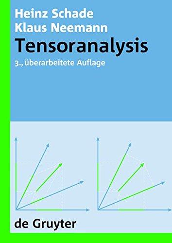 Tensoranalysis (De Gruyter Lehrbuch)