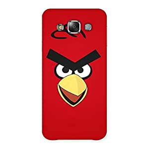 Gorgeous Red Bird Yellow Beak Back Case Cover for Galaxy E7